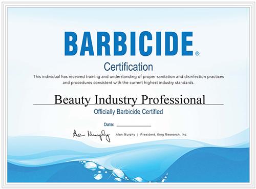 barbicide certification course certificate certified
